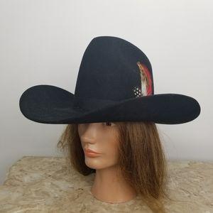 Vintage Black Stetson Cowboy Hat 4X Beaver 6 7/8